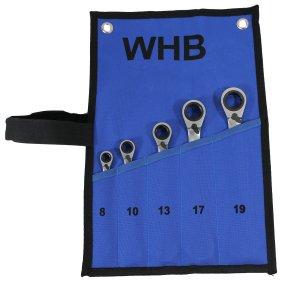 WHB-Tools 4900-05 Umschaltbarer Ratschenschlüssel-Satz...