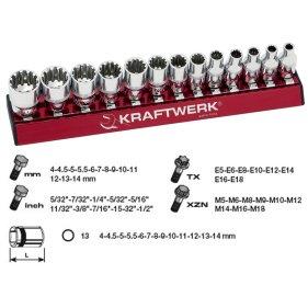 Kraftwerk 130990 MagAlu Combi Stecknuss-Satz 1/4 13-tlg.