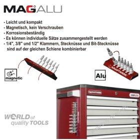 Kraftwerk 330990 MagAlu Combi Stecknussatz 1/2 10-tlg.