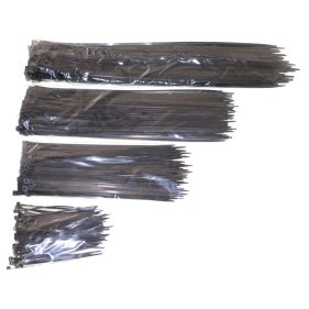 Kabelbinder-Sortiment 400-teilig schwarz