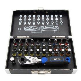 WHB Tools 3095 Farb-Bit-Box/Bitsatz 1/4 Zoll 33-tlg....