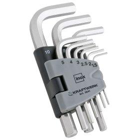 Kraftwerk 3641 Sechskant-Stiftschlüssel-Satz INOX 9-teilig