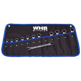 WHB Tools 4400-12 Ring-Ratschenschlüssel-Satz 12-tlg. mit...