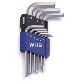 WHB Tools 3601 Sechskant-Stiftschlüssel-Satz 1.5-10mm 9-tlg.