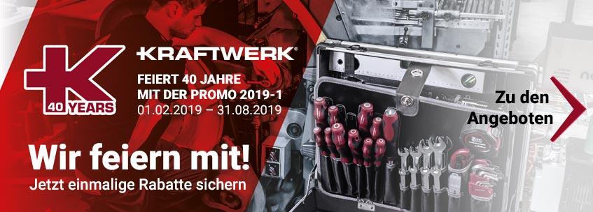 Mit der Kraftwerk Werkzeug Promotion 2019-1 bestellen und sparen!