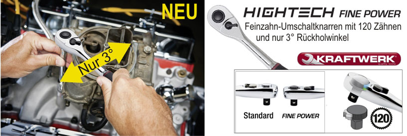 HIGHTECH Fine Power Feinzahn-Umschaltknarren von KRAFTWERK®