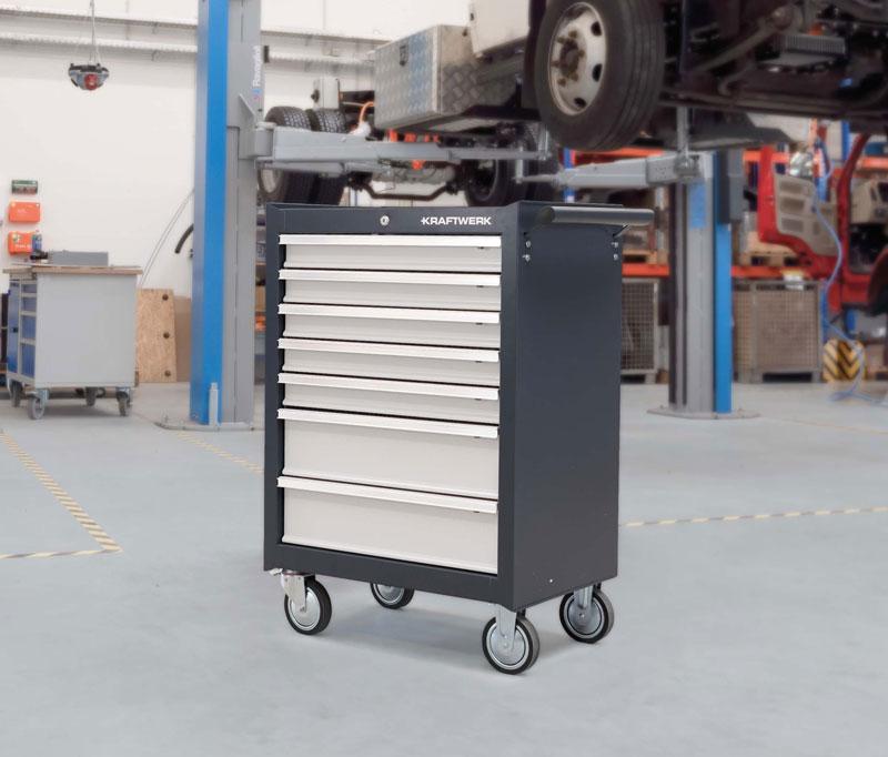 KRAFTWERK® Basic-line Werkstattwagen bestückt und unbestückt