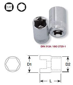 Kraftwerk 100100 1/4 Zoll Sechskant-Stecknuss 10 mm