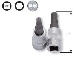 Kraftwerk 106004 1/4 Zoll Innensechskant-Bit-Stecknuss 4 mm
