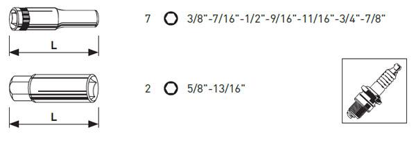 "MagAlu (INCH) Zoll-Stecknuss-Satz tief 3/8"" 9-tlg., Kraftwerk 201599"
