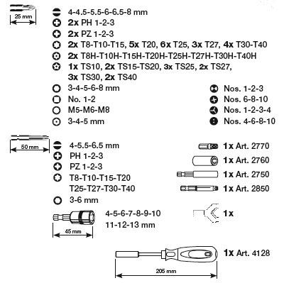 Kraftwerk 2778 HYPER-Bit-Box 138-tlg