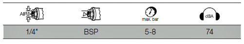 Kraftwerk 30202T Druckluftspindel für Bremskolben-Rücksetzwerkzeuge
