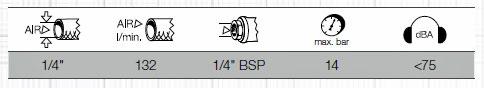 Druckluft-Ausblaspistole mit Zubehör, Kraftwerk 31030SET