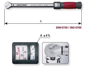 Klick-Drehmomentschlüssel 1/2 Zoll 40 - 200 Nm, Kraftwerk 3235
