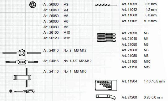 Kraftwerk 3245MOD Gewindeschneid-Werkzeugkoffer 56-tlg.
