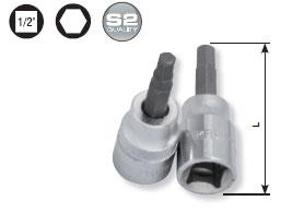 Kraftwerk 326014 1/2 Zoll Innensechskant-Bit-Stecknuss 14 mm