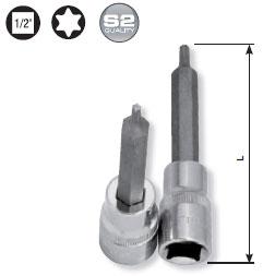 Kraftwerk 335045 1/2 Zoll Torx-Bit-Stecknuss T45, 100 mm lang