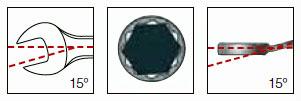 Kraftwerk 3585R Ring-Maulschlüssel-Satz INCH 11-teilig in Canvas-Rolltasche