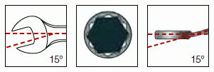 Kraftwerk 3514 Ring-Maulschlüssel 14mm voll poliert