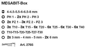 Kraftwerk 3787 MEGABIT-Box, Bitsatz 61-teilig