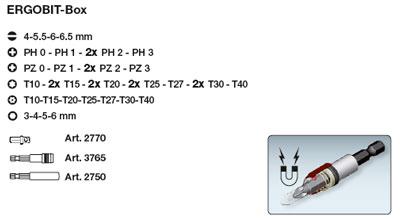 Kraftwerk 3795 ERGOBit-Box/Bitsatz 1/4 zoll