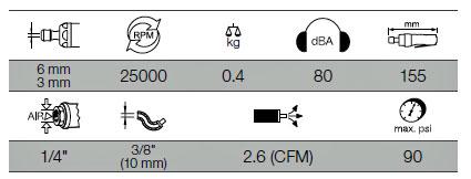 Kraftwerk 3840 Druckluft-Stabschleifer