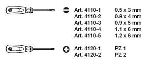 Kraftwerk 4161 ergokraft Schraubendreher-Satz PZ 7-teilig