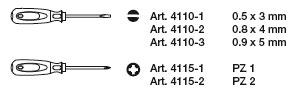 Kraftwerk 4163 ergokraft Schraubendreher-Satz PZ 5-teilig