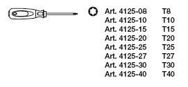 Kraftwerk 4165 ergokraft Torx® Schraubendreher-Satz 8-teilig