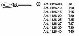 Kraftwerk 4166 ergokraft Torx® Schraubendreher-Satz mit Bohrung 8-teilig