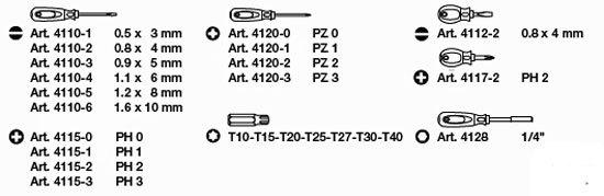 Schraubendreherkoffer mit Bitsatz 24-teilig