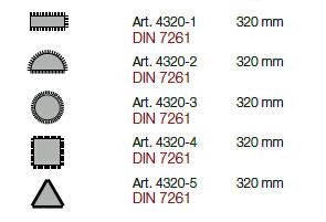 Kraftwerk 4320 Werkstattfeilen-Satz 5-tlg.