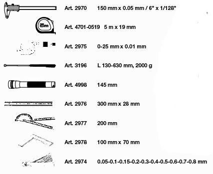 Kraftwerk 4900-12B Completo Messwerkzeug-Einlegeschale 9-tlg.