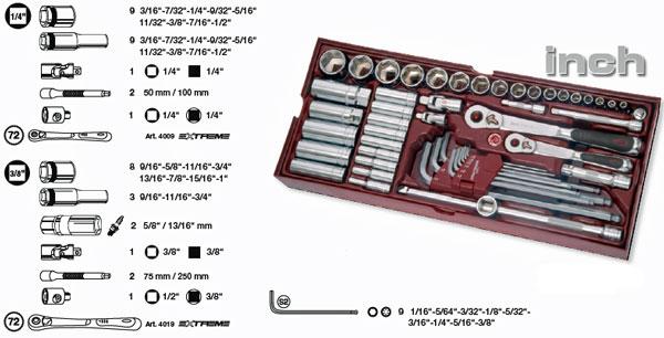 4900-29b Kraftwerk INCH Steckschlüssel-Einlegeschale