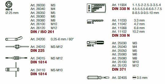 Kraftwerk 4900-59B Completo Bohr- und Gewindeschneidwerkzeug-Einlegeschale 42-teilig