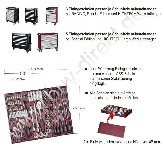KRAFTWERK® COMPLETO Werkzeug-Einlegeschalen der Serie 4900