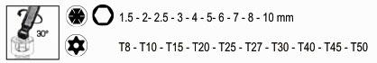 Kraftwerk 99072 Innensechskant- und Torx-Stiftschlüssel-Satz 20-teilig